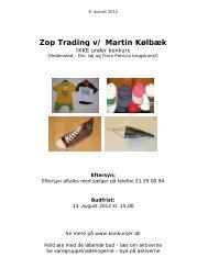 Zop Trading v/ Martin Kølbæk - konkurser.dk