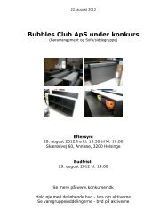 Bubbles Club ApS under konkurs - konkurser.dk