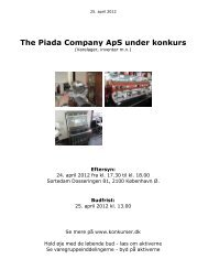 The Piada Company ApS under konkurs - konkurser.dk