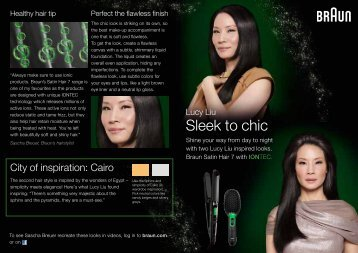 Lucy Liu Sleek To Chic - Braun
