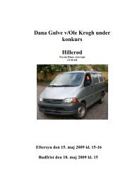 Dana Gulve v/Ole Krogh under konkurs Hillerød - konkurser.dk