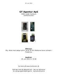 GT Agentur ApS - konkurser.dk