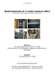 Butlernetworks A/S under konkurs-DEL2 - konkurser.dk
