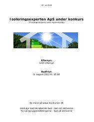 Isoleringsexperten ApS under konkurs - konkurser.dk