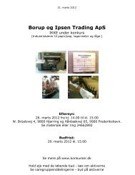Borup og Ipsen Trading ApS - konkurser.dk