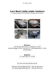 Lars Bach Jedig under konkurs - konkurser.dk