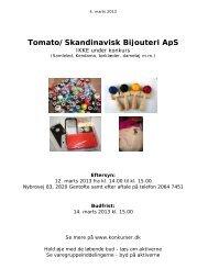 Tomato/Skandinavisk Bijouteri ApS - konkurser.dk