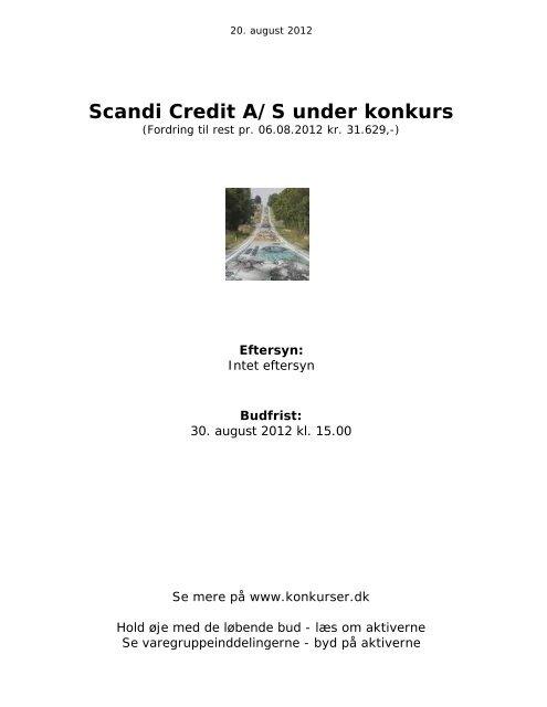 Hent salgsopstilling - konkurser.dk