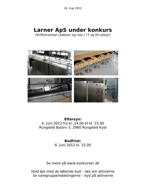 Larner ApS under konkurs - konkurser.dk
