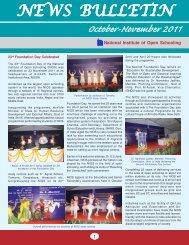 October - November - 2011 - The National Institute of Open Schooling