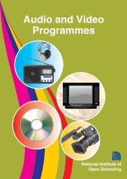 Audio and Video programmes - The National Institute of Open ...