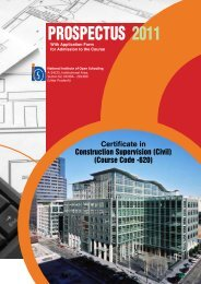 Prospectus for Certificate in Construction Supervision (Civil) Course