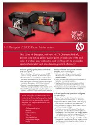HP Designjet Z3200 Photo Printer series - HP Plotter