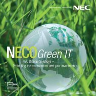 NEC Display Solutions – Protecting the environment and your ... - Pixl