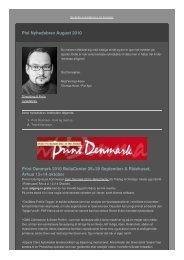 Nyhedsbrev fra Pixl - September 2010