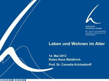 Vortrag Leben und Wohnen im Alter - Stadt Waldkirch