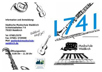 Flyer Musikschule 0909 - Stadt Waldkirch