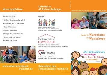 Wunschgroßeltern Flyer - Stadt Waldkirch