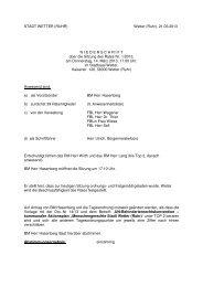 Protokoll zur Sitzung Nr. 1/13 vom 14.3.2013 - Stadt Wetter