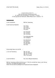 Protokoll zur Sitzung Nr. 3/13 vom 27.6.2013 - Stadt Wetter