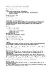 Zwischenbericht des Fachforums (12 KBytes) - Stadt Wetter