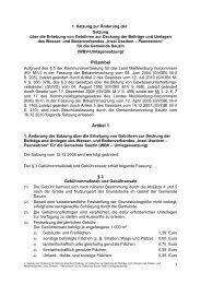 Satzung zur Änderung der - Stadt Wolgast