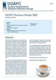 DGÄPC Newsletter Oktober 2006 Editorial - Deutsche Gesellschaft ...