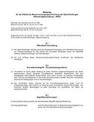 Wasserabgabesatzung - Stadt Nördlingen