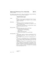 Reglement über die Benützung von Turn - Stadtverwaltung St.Gallen