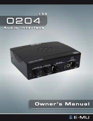 EMU 0204 USB Operation Manual - Pestingers.net