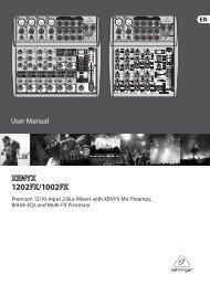 XENYX 1202FX/1002FX - Behringer