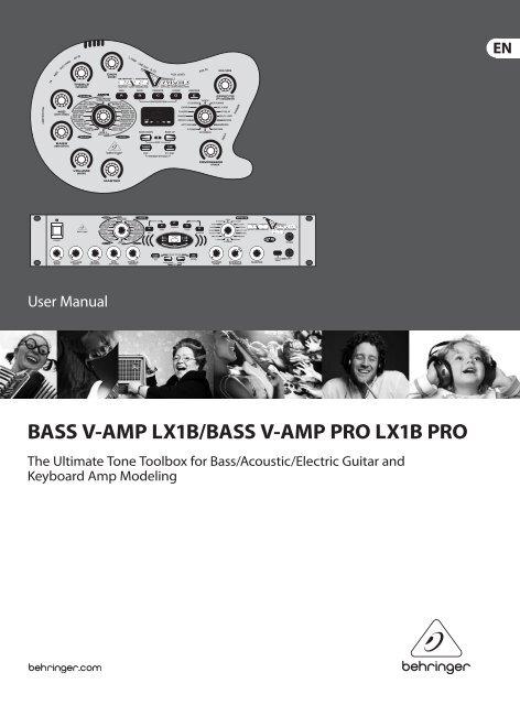 BASS V-AMP LX1B/BASS V-AMP PRO LX1B PRO - Behringer