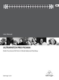 ULTRAPATCH PRO PX3000 - Behringer