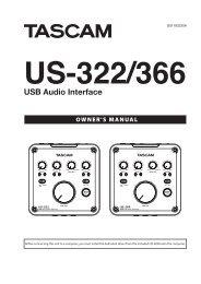 Tascam US322 USB Audio Interface Manual - American Musical ...