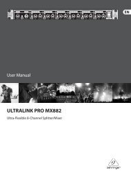 ULTRALINK PRO MX882 - Behringer