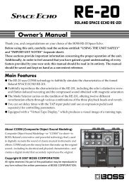 Main Features - Roland