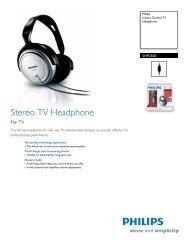 SHP2500/37 Philips Indoor Corded TV Headphone