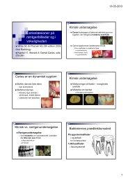Carieslæsioner på røntgenbilleder og i virkeligheden