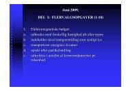 Juni 2009, DEL I: FLERVALGSOPGAVER (1-10) 1 ...