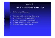 Juni 2010, DEL I: FLERVALGSOPGAVER (1-10) 1 ...