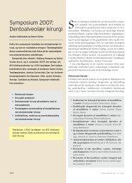 Symposium 2007: Dentoalveolær kirurgi - Tandlægeskolen - Aarhus ...