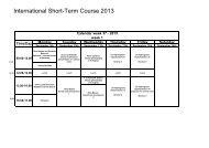 International Short-Term Course 2013