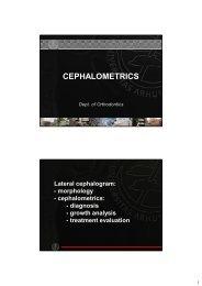 CEPHALOMETRICS