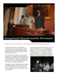 Booqashadii Baarlamaanka Minnesota - Somali Talk