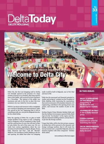 Welcome to Delta City - Delta Holding