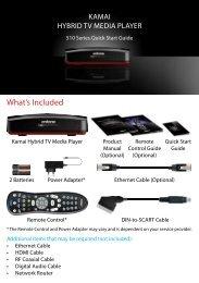 Kamai 510 Quick Start Guide - Entone Technologies