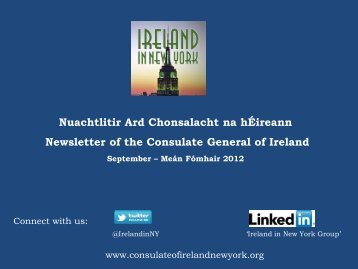 Consulate General of Ireland, New York - Information About Ireland