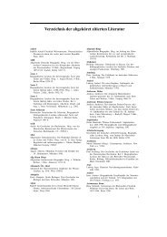 Verzeichnis der abgek ¨urzt zitierten Literatur - Walter de Gruyter