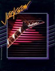 Jackson 1986 San Dimas Catalog - Jackson® Guitars