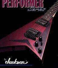 Jackson 1995 Performer Series Catalog - Jackson® Guitars